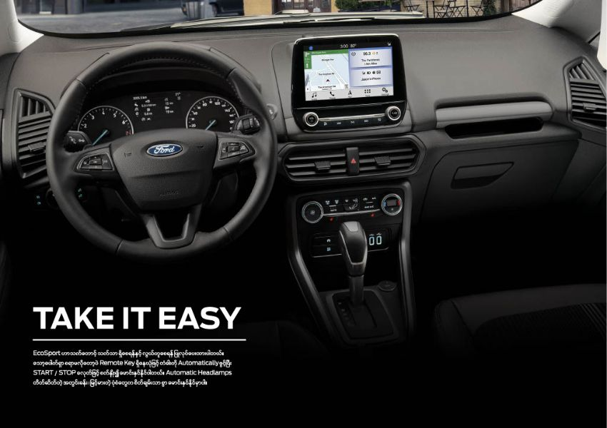 Ford ecoSport  2019 , New Car for sale in myanmar market and price