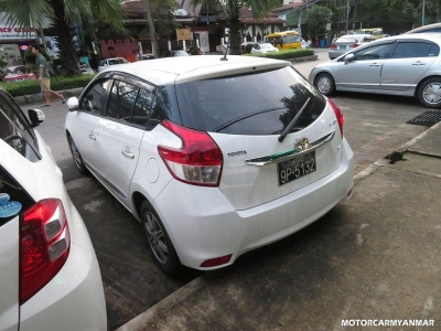 Toyota Yaris 2015. car for sale in myanmar.