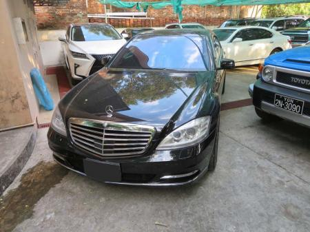Mercedes-Benz S550 2012. car for sale in myanmar.
