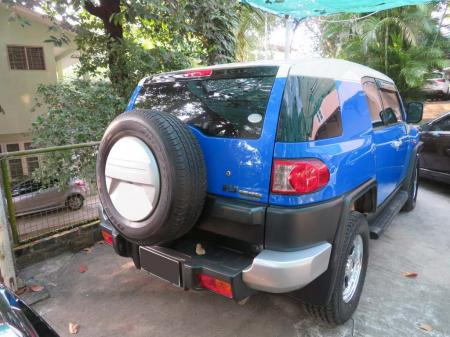 Toyota FJ Cruiser 2011 used motor car for sale in Myanmar and price.