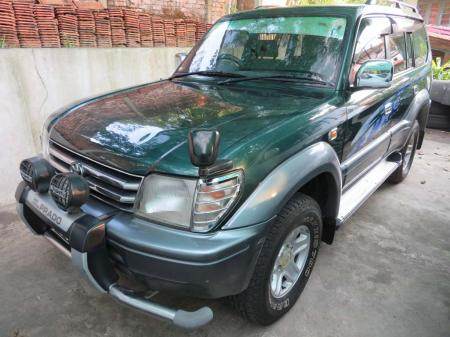 Toyota Land Cruiser Prado 1996. car for sale in myanmar.