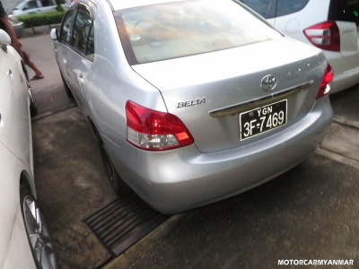 Toyota Belta 2007. car for sale in myanmar.