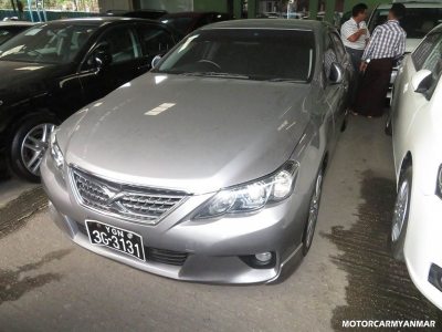 Toyota Mark X 2010. car for sale in myanmar.