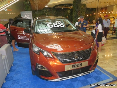 myanmar car event 18 10.j High 5 to Peugeot