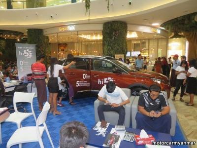 myanmar car event 18 12.j High 5 to Peugeot
