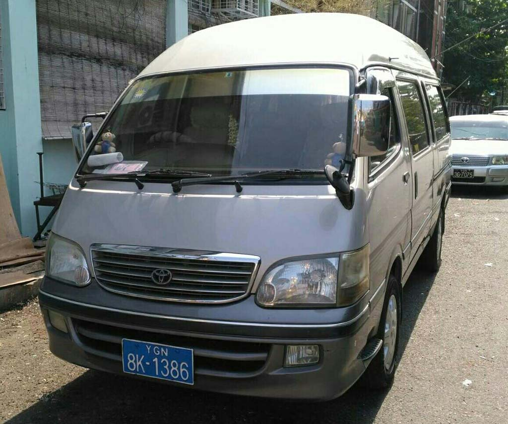 Toyota Hiace 2002 Used Car for rent in myanmar market and price
