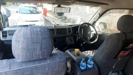 Toyota Hiace rental car in myanmar and price for hire and rent