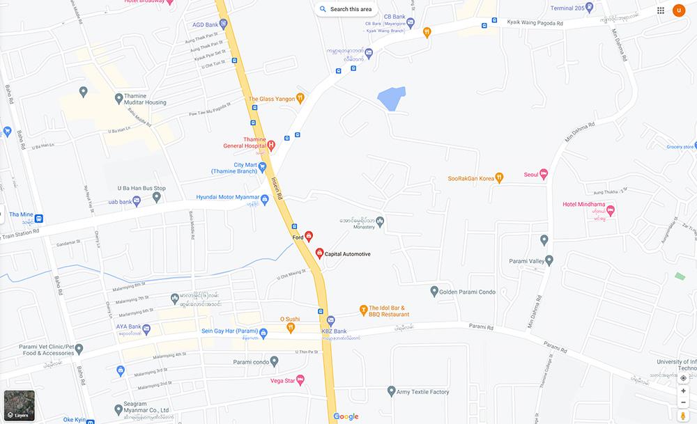 Ford Myanmar map